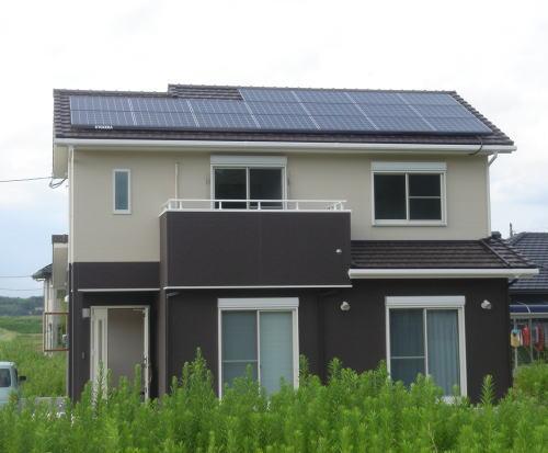 O様邸太陽光発電システム設置