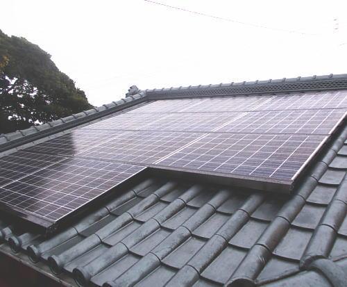 F様邸太陽光発電システム設置