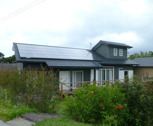 K様邸太陽光発電システム設置